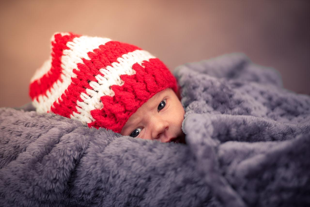 Wygodne i ciepłe czapki dla niemowląt